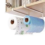 Porte-serviettes en papier pour armoire 2Pc , Porte-rouleau de cuisine sans perçage