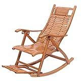 WJJJ Chaise berçante en Bambou Chaise Longue réglable Fauteuils inclinables étanches Patio Extérieur pour chaises Pliantes inclinables (Couleur: A)