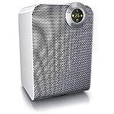 Brandson - Chauffage soufflant en céramique 1800 Watts - Minuterie de 1-8 Heures - 2 puissances - Thermostat numérique - Contrôle de la température de 10° à 35° - Fonction Ventilateur - Oscillaton