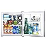 Petit Frigo Congelateur Mini Refrigerateur Frigidaire Petit RéFrigéRateur-CongéLateur à Une Porte Avec Serrure Et RéFrigéRateur à éConomie D'éNergie Silencieuse ÉConomie D'éNergie Capacité 45L(Silver)