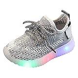 Yncc_BÉBÉ👼 Enfants Garçon Fille LED Lumineuse Chaussures Sneakers Basses Bébé Fille et Bébé Garçon Basket LED Chaussures de Sport Clignotant Lumineuse Mesh Chaussures De Course