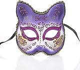 ZGYQGOO Masque Créatif Halloween Masque Masque Masque Adulte Demi Visage Partie Masque Partie Dessin Animé Venise Animal Peint Masque