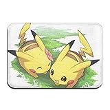 Pokémon Paillasson anti-saleté pour intérieur et extérieur, 40 x 60 cm, lavable, très résistant, antidérapant, tapis d'entrée super absorbant
