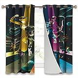 SSKJTC Rideaux occultants pour chambre à coucher Go Power Rangers 22 rideaux pour le salon 140 x 160 cm