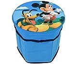 Pouf de rangement pour chambre d'enfant Idéal pour ranger les jouets Motif Disney