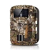 WOSPORTS Caméra de chasse avec détecteur de mouvement 42 pièces Lumière noire 16 MP 1080p étanche Petit pour chasseur jardin extérieur