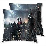 anzonto Lot de 2 housses de coussin carrées - Motif Batman dans Gotham City - 50 x 50 cm