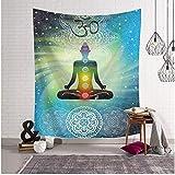 Tapisserie Tenture Décoration Yoga Décor Tenture Murale Polyester Tissu Maison Spirituelle Dortoir Tapis Couverture 150 * 200 Cm