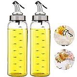 FARI Distributeur d'huile d'olive - 500 ml bouteille d'huile en verre sans plomb pour huile d'olive végétale, bouteille d'huile de verre sans plomb.