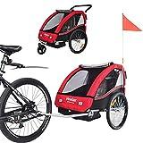 TIGGO Convertible Jogger Remorque à Vélo 2 en 1, pour Enfants BT504-D01 Rouge