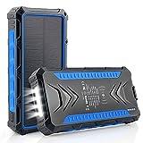 DJROLL 36000mAh Batterie Externe Solaire, Qi sans Fil Chargeur Solaire 2 Ports USB et 1 Type-C Charge Rapide, IP66 Waterproof Alimentation d'urgence, Chargeur de Téléphone Portable pour Camping