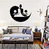 Tianpengyuanshuai Stickers muraux en Vinyle Yin et Yang Yoga Méditation Chambre Décoration de la Maison Stickers Muraux Fenêtre Murale Stickers Amovibles 63x75 cm