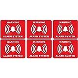 alarme logo 79 lot de 6 autocollant adhésif sticker - Taille : 8 cm