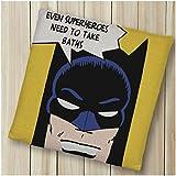 RRAN Coussin de Chaise 3D Batman Coussin Rembourré Voiture Tapis d'hiver Salle à Chaud Chaise Chaise D'ordinateur Butt Pad Washable Chaise De Bureau Tatami Sangle Coussin C-50CMX50CM