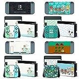 BLOUR Autocollant de Peau de Croisement d'animaux Vinyle pour Autocollant de Nintendo Switch Peau NS Console et contrôleurs Joy-Con Autocollants Nouveaux Horizons
