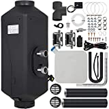 VEVOR Chauffage Diesel 12v 5kw Consommation: 0,11-0,51 (L/h), Interrupteur Rotatif & 2 Silencieux & Accessoires Complets, pour Camions RV Bateaux Chambres