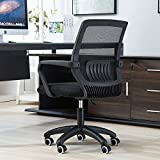Wyujie Chaise De Bureau Ergonomique, Chaise Dactylo Chaise De Bureau Solde Chaise De Bureau Chaise Jeu, Étude, Travail, avec roulettes,Noir