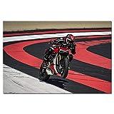 Ducati Street Fighter V4 Sport Super Moto Affiche Mur Art Toile Peinture Mur Photo pour Salon décor 60X90 cm 24x36 Pouces Pas sans Cadre
