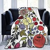 Couvertures Throw Plaid Dessus de lit Berry Apple Tangerine Blueberry Couverture de salon confortable Jeté de Canapé 60'x50'