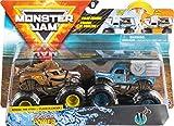 Monster Jam- Official Colour-Changing Die-Cast, 1:64 Scale Monster Truck Officiel Horse Power vs. Whiplash à Changement de Couleur, échelle 1/64, 6056830, Gris