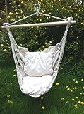 Fauteuil balançoire avec 2 coussins pour jardin, bateau, yacht, caravane, camping intérieur ou extérieur