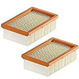 Lot de 2 Filtre Remplacement pour Aspirateur Kärcher WD4 WD5 WD6 MV4 MV5 MV6 plissé Plat