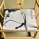 QTQHOME Fauteuil Chinois en Tissu Coussin Coussin Fauteuil Taishi Chaise Coussin à Manger Table Chaise Chaise Antique Coussin Moderne Maison De Thé à Manger-H