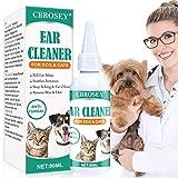 CBROSEY Nettoyant Oreille Chiens et Chats,Dog Ear Cleaner,Nettoyant Oreille Chat Traite pour l'inflammation Arrêtez Démangeaisons Odeur Acariens Retirer la Cire