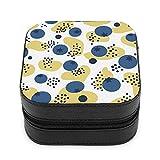 Boîte à bijoux ERDG, boîte de rangement de bijoux à fermeture éclair en cuir, sac de voyage portable, le premier choix pour les cadeaux pour femmes Blueberry