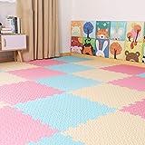 Carpettes Jouets éducatifs Puzzle Tapis Multicolore Bubble Jouet Tapis Bébé Enfant Tapis Sur Le Tapis De Sol HP12-4 (Color : C-30x30x1.2 cm 24pcs)