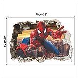 Dessin Animé Spiderman Sticker Mural Décalque Pour Chambre D'Enfants 3D Vif Décor À La Maison Enfants Cadeaux