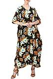 Miss Lavish London Robes kimono Kaftans pour femme - Pour adolescentes et adultes - De taille normale à grande - noir - 52/56