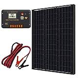 ECO-WORTHY monocristallin 60W 12V Panneau solaire kit + 20A contrôleur de charge pour batterie de 12 volts Hors-réseau Système (60W Panneaux solaires kit)