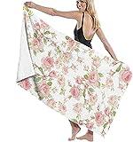 Saint Colette June Roses Serviettes De Plage Serviettes De Bain Spa Super Absorbantes À Séchage Rapide pour La Natation Et en Plein Air 80x130cm