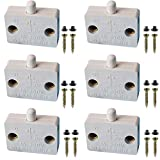 VISSQH 6Pcs Commutateur d'armoire Encastrer à Contact Momentané,Interrupteur Automatique pour Placards Interrupteurs de Porte de Meuble, Ouvert Quand l'interrupteur est Poussé - Blanc(12V 24V 110V)