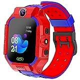 EXEDSCEND Enfants Smart Watch Sos est Anti-Perdu, Watch GPS Watch avec la localisation en Temps réel, Touch Screen Chat de Chat de la Lampe de Poche Alarm pour 4-14 Ans Garçons Girls Cadeaux,Rouge