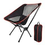Chaise de camping pliable en plein air, chaise de dossier pliable de loisirs portable avec sac de transport pour les activités de plein air, le camping, les pique-niques,la randonnée et les voyages