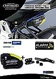 artago 30X 2Cadenas antivol Disque avec Alarme 120dB Haute Gamme et Support pour Yamaha mt-07et Tracer 700, Ø 14Double Fermeture, homologué SRA et Sold Secure Gold, Bunker Selection
