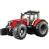 BRUDER - 03046 - Tracteur MASSEY FERGUSON 7600 - Rouge