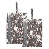F17 Lot de 2 sacs à chaussures de voyage imperméables et légers pour homme et femme Motif grue japonaise