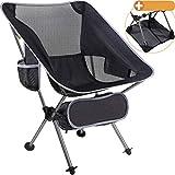 smartpeas Chaise de Camping en Polyester 600D Robuste et Aluminium - légère et Pliante - Accessoire de Camping avec Poches latérales + Tapis de Plage Offert