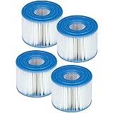 Générique 4 Cartouches de Filtration Intex pour Filtre Spa - Intex Type S1
