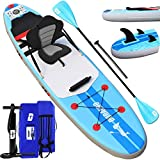 Stand up paddle Gonflable SUP Board Stand Up Paddle Board, siège kayak sport nautique, 305 x 76 x 15 cm, jusqu'à 110 kg