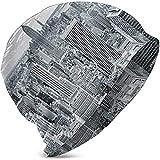 G.H.Y New York sur Manhattan Urban Panorama Filles Coton Simples Hedging Bonnet de lit ligné