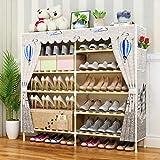 FACAI Étagère À Chaussures Multicouche Étagères À Chaussures pour Chaussures Bottes Pantoufles Gain De Place Assemblage Facile,H