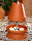 Photophore pour jusqu'à 6 bougies chauffe-plat Chauffage à la lumière du thé Bougie pouvant être peinte anti-moustique Jardin Terrasse Poêle à bougie Cheminée de table parfumées four Deco