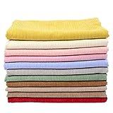 MAGFYLY Tissu Velours Côtelé Couleur Unie Veste en Velours Côtelé Vêtements Chemise Veste en Coton Canapé Velours Tissu(Color:Rouge)