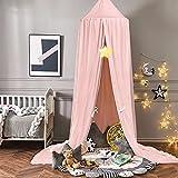 Ciels de Lit pour Enfant, Moustiquaire baldaquin pour Bébé ou Enfant, Conception de décoration à double couche Baldaquin pour de Chambre à Coucher (Rose)