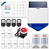 W18 WIFI&GSM Système d'alarme sans fil pour la maison et le bureau, kit à monter détecteur de mouvement immunitaire extérieur étanche sirène solaire télécommande IOS/Android APP