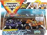 Monster Jam Trucks Officiels Mohawk Warrior vs. Jester Moulés sous Pression à Couleur Changeante Échelle 1/64